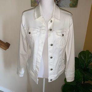 Liverpool white stretch denim jean jacket medium